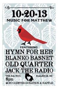 Music for Matthew - Tir Na Nog Irish Pub - Raleigh, NC - October 20th